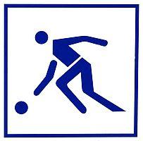 Schild Ballspielen