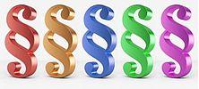 Bild mit farbigen Paragraphen-Zeichen